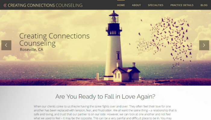 counseling website, counselor website design
