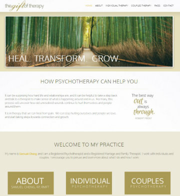 psychotherapy website design, counseling websites