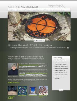 Jungian analyst wordpress website for therapists