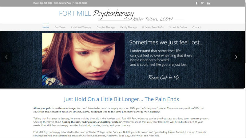 fortmill website design therapists