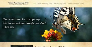 wordpress website design for healers, yoga, spa, holistic therpists